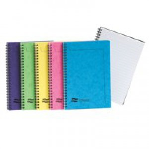 Europa Notemaker A5 Side Bound Pack of 10 Assorted C 120 Pages Ruled Feint 3155