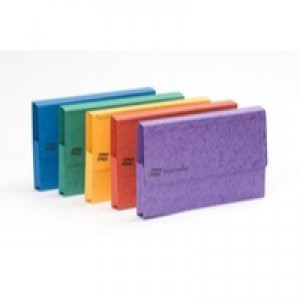 Europa Pocket Document Wallet Foolscap Assorted Pack of 25 4790