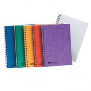 Europa Notemaker A4 Side Bound Pack of 10 Assorted A 120 Pages Ruled Feint 4860
