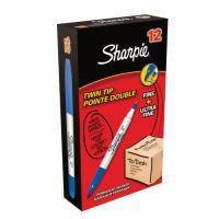 Sharpie Twin Tip Permanent Marker Blue Pk12 S0811120