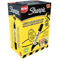 Sharpie Metal Permanent Marker Large Chisel Tip Black S0949820