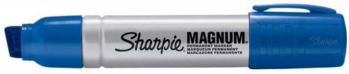 Sharpie Metal Permanent Marker Large Chisel Tip 14.8mm Line Blue Ref S0949860 [Pack 12]