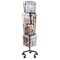 Safco Rotating Floor-Standing Display Unit 16xA4 Pocket 4139CH