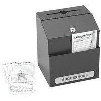 Safco Locking Steel Suggestion Box Black 4232BL