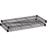 Safco Wire Commercial Shelving Extra Shelves Black Pack of 2 5243BL