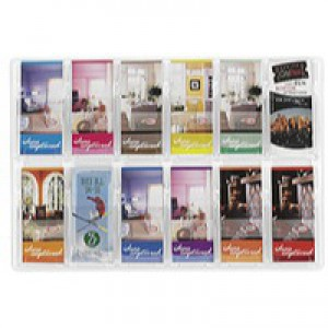 Safco Reveal 12x1/3xA4/DL Pocket Clear Display 5604CL