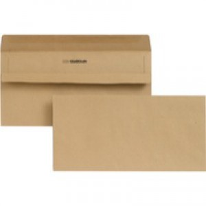 New Guardian Envelope DL 80gsm Manilla Self-Seal Pack of 1000 Recycled H25411