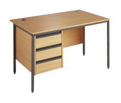 Maestro 1228 Desk 3 Drawer Ped B