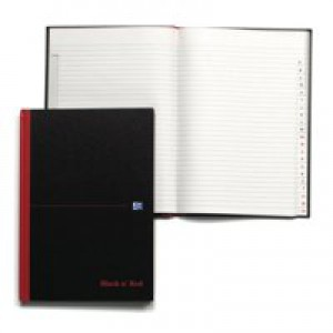Black n Red Book Casebound 90gsm Ruled Indexed A-Z 192 Pages A5 Code 100080491