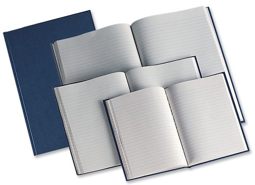 Manuscript Book Casebound 70gsm Ruled 190 Pages A5 [Pack 5]