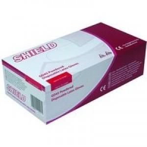 Shield Polypropylene Latex Gloves Large Pack of 100 Natural GD45