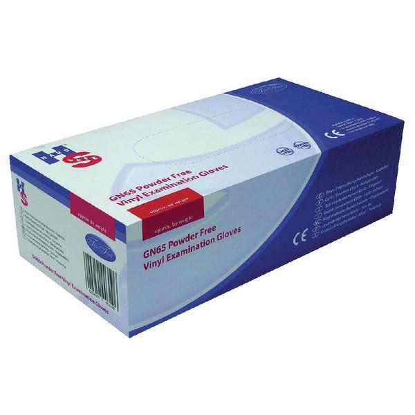 Handsafe Powder Free Vinyl Examination Gloves Size M Pack 100 Clear Pack 10