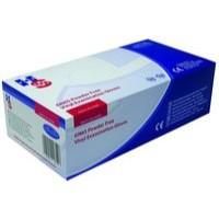 Handsafe Powder-Free Vinyl Gloves Large Pack 100 Clear GN65