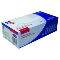 Handsafe Powder Free Vinyl Examination Gloves Size L Pack 100 Clear Pack 10