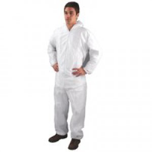 HPC Non-Woven Coverall Medium White DC03