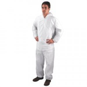 HPC Non-Woven Coverall Large White DC03
