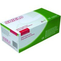 Shield Powder-Free Latex Gloves Medium Pack of 100 GD05