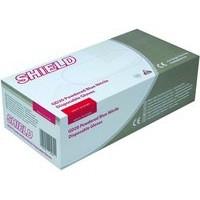 Shield Polypropylene Nitrile Gloves Blue Medium Pack of 100 GD20