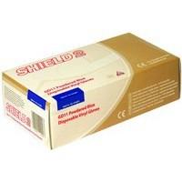 Shield Polypropylene Vinyl Gloves Blue Small Pack of 100 GD11