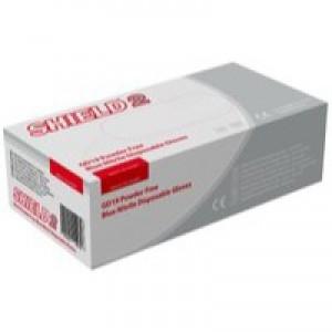 Shield Powder-Free Nitrile Gloves Blue Medium Pk 100 GD19