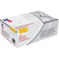 Hand Safe White Powder Free Nitrile Gloves Size L Pk200