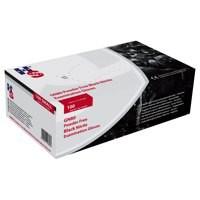 Handsafe Powder Free Nitrile Gloves Medium Black Pack 100