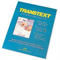 West Design Transtext Self-adhesive Film 25 Sheets Clear A4 Code 244110