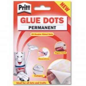 Pritt Glue Dots Pk 64x12 Permanent 1444964