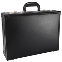 Masters Briefcase Expander Bonded Leather Black 2253