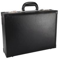 Monolith Briefcase Expander Bonded Leather Black 2253