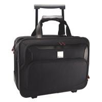 Monolith Deluxe Nylon Wheeled Laptop Case Black 2372