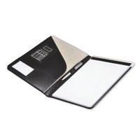 Monolith Leather Conference Folder with A4 Pad Black 2925