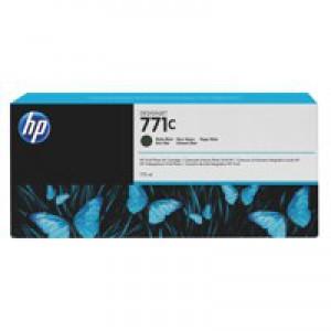 HP 771C Matte Black Deskjet Inkjet Cartridge  packed with 775ml of HP Vivid Photo ink (Single).
