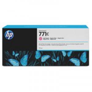 HP 771C Light Magenta Deskjet Inkjet Cartridge  packed with 775ml of HP Vivid Photo ink (Single).
