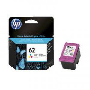 HP 62 Tri-Color Original Ink Cartridge C2P06AE