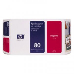 Hewlett Packard No80 Inkjet Cartridge 350ml Magenta C4847A