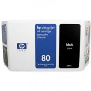 Hewlett Packard No80 Inkjet Cartridge 350ml Black C4871A