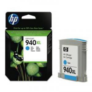 Hewlett Packard No940 XL Ink Cartridge Cyan OfficeJet Pro 8000/8500 C4907AE