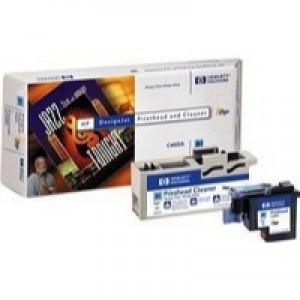 Hewlett Packard No81 Dye Print Head and Cleaner Cyan C4951A