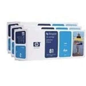 Hewlett Packard No81 Dye 3 Ink Multi-Pack Inkjet Cartridge Cyan C5067A