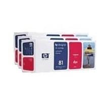 Hewlett Packard No81 Dye 3 Ink Multi-Pack Inkjet Cartridge Magenta C5068A