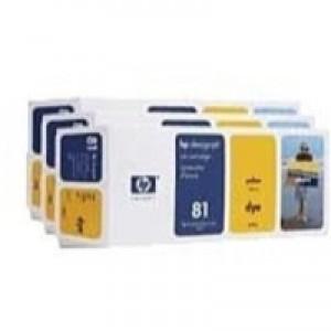 Hewlett Packard No81 Dye 3 Ink Multi-Pack Inkjet Cartridge Yellow C5069A