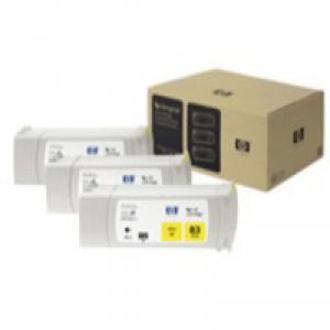 Hewlett Packard No83 UV 3 Ink Multi-Pack Inkjet Cartridge Yellow C5075A