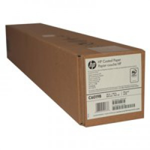 Hewlett Packard Coated Paper 610mm x45 Metres Roll 98gsm C6019B