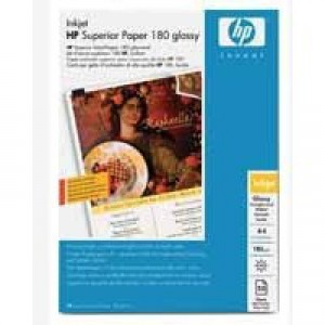Hewlett Packard Brochure/Flyer Paper Glossy A4 Pack of 50 180gsm C6818A