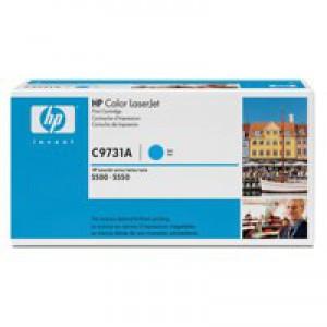 Hewlett Packard No645A LaserJet Toner Cartridge Cyan C9731A