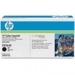 Hewlett Packard No646X Colour LaserJet Toner Cartridge Black CE264X