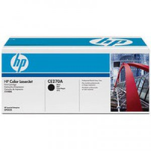 Hewlett Packard No650A Colour LaserJet Toner Cartridge Black CE270A