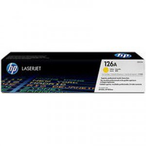 Hewlett Packard [HP] No. 126A Laser Toner Cartridge Page Life 1000pp Yellow Ref CE312A