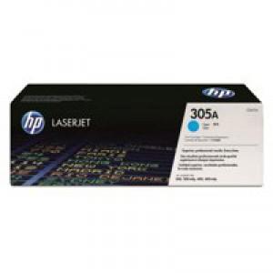 Hewlett Packard No305A LaserJet Toner Cartridge Cyan CE411A
